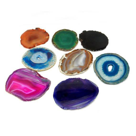 Dyed Agate Stone Coaster