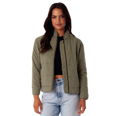 Lightweight Quilted Bomber Jacket - Ivy Jackets Rhythm