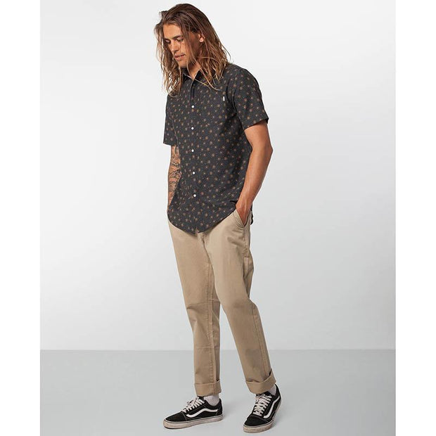 mens rhythm bangel button up short sleeve