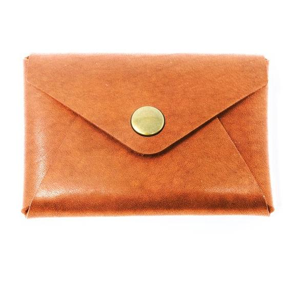 tanned leather wallet