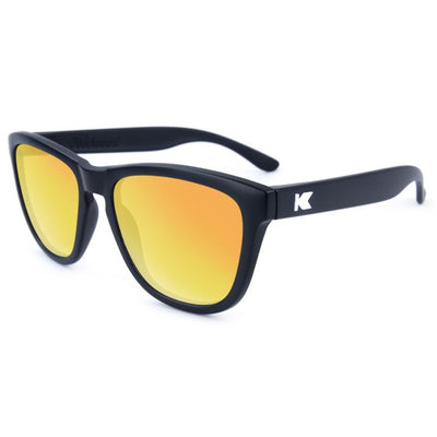 Black Sunglasses - Polarized Reflective Lenses Sunglasses Knockaround
