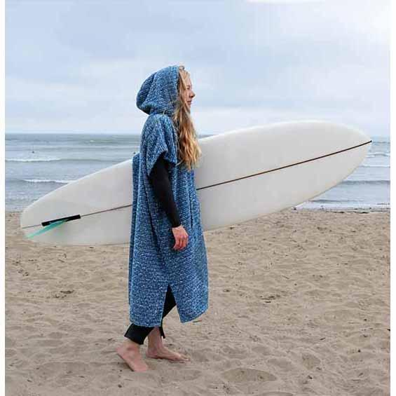 surf changing poncho blue