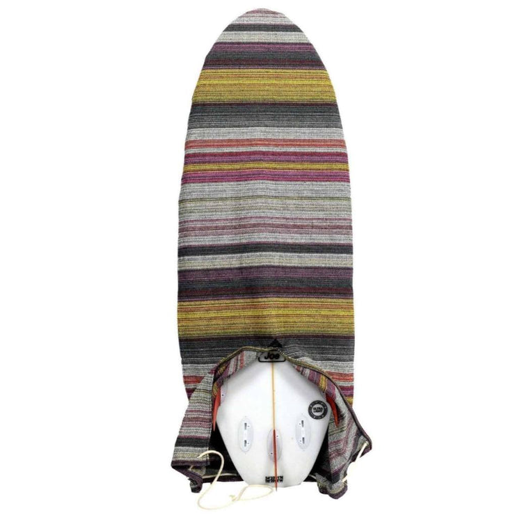 striped surfboard bag