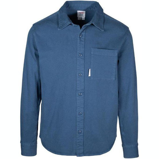 Organic Button Up - Blue Woven Shirts Topo Designs L