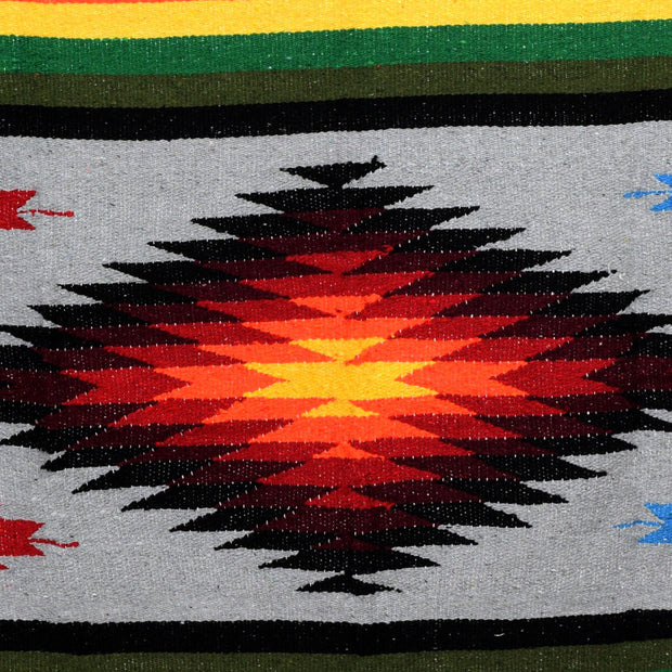Aztec Diamond Yoga Blanket - Orange Kiss