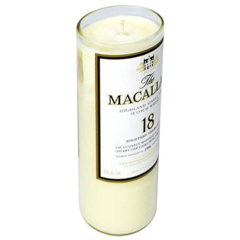 liquor bottle candle MaCallan 18