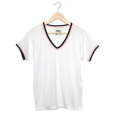Vintage Baseball T-Shirt- White T-Shirts Camp Collection XS