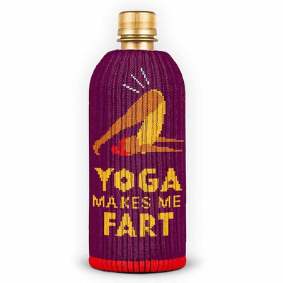 yoga makes me fart koozie