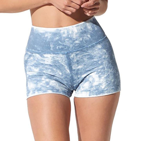 Avomuse air shorts tie dye mineral wash eco Yoga
