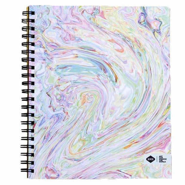 Notebook with Printed Art Cover - Abalone Tie Dye Notebooks & Journals Denik