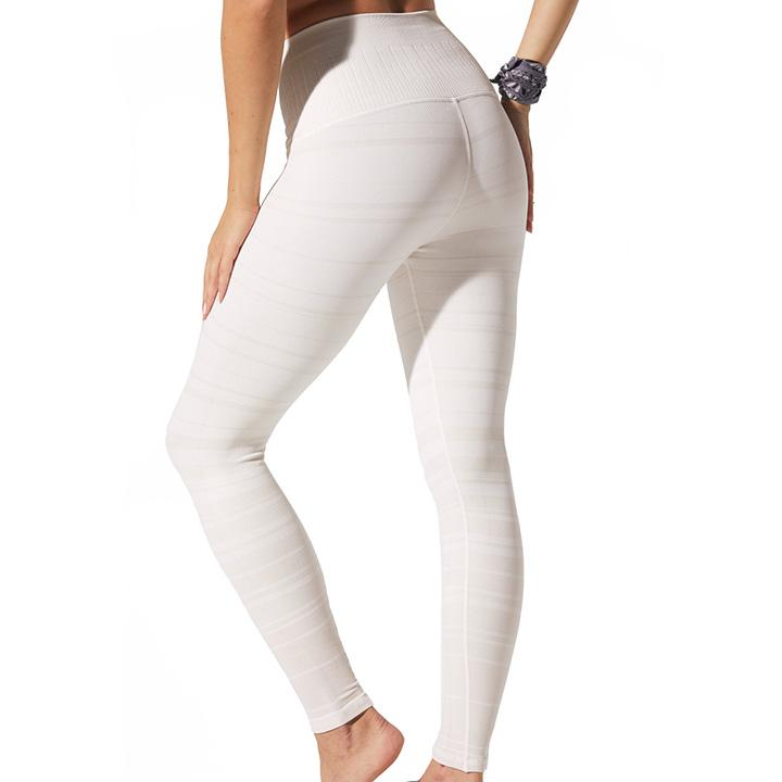 Samantha Stripe Legging - White Sand Leggings Avocado
