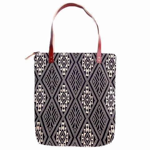 Aztec Day Tote Leather