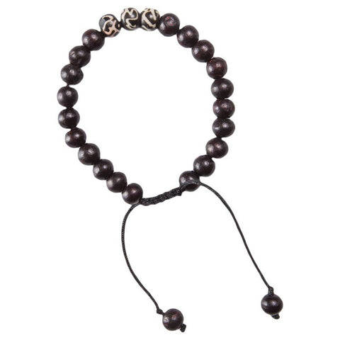Black Yoga mala bracelet meditation OM