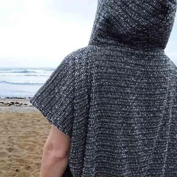 Surf Changing Poncho - Charcoal Black Surf Poncho West Path