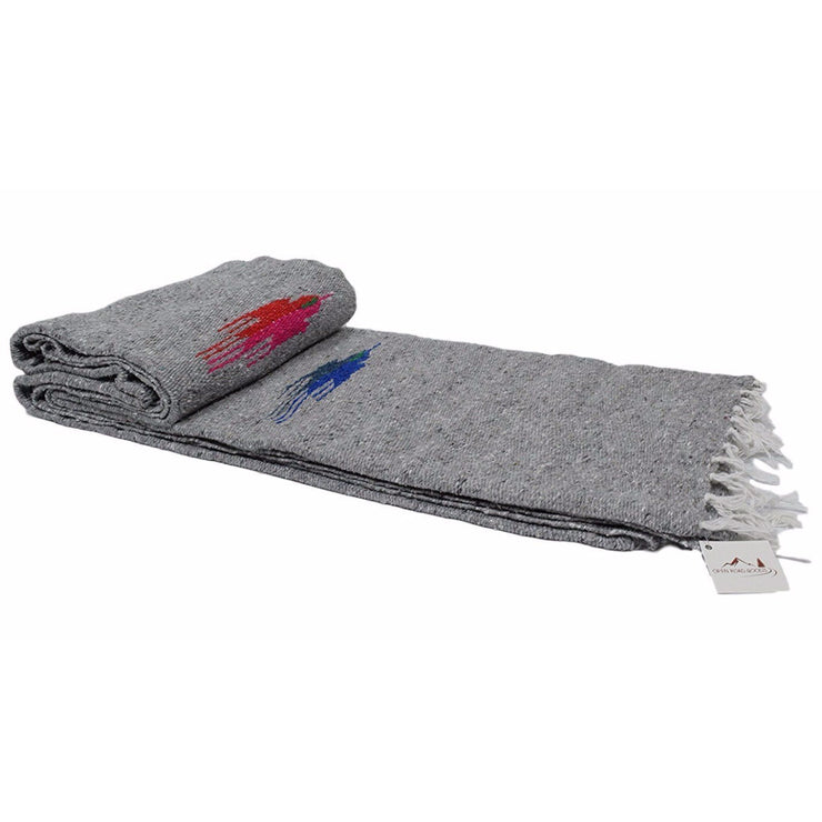 Heather Grey Baja Thunderbird Blanket Baja Blankets West Path