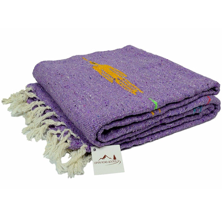 Thunderbird Blanket: Violet Purple Baja Yoga Blanket Baja Blankets West Path