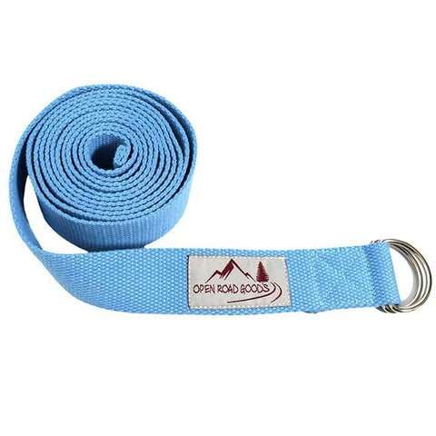 cotton yoga strap blue