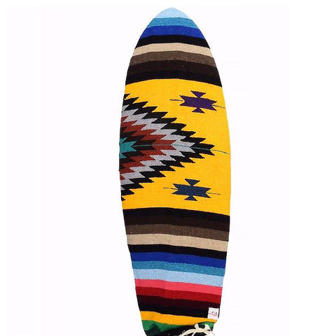 Yellow Aztec Baja Surfboard Bag - 6'0