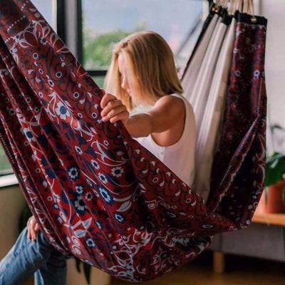 Canvas Packable Hammock - Bohemian Print - Rigging Included Hammocks Layback Co.