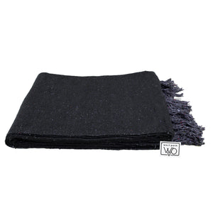 Solid Charcoal Mexican Blanket