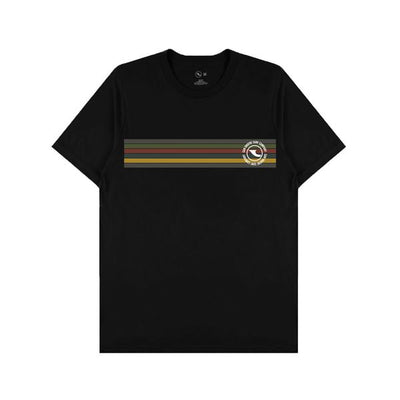 Down The Line Tee - Black T-Shirts San Onofre Surf Company L