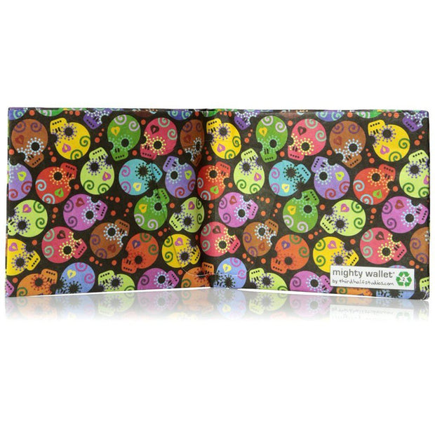 Day of the Dead Mighty Wallet - Slim Tyvek Wallet Wallets Mighty Wallet