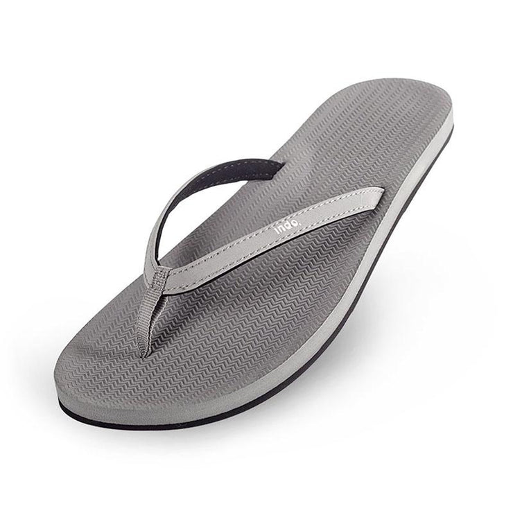 Eco-Friendly Flip Flops - Grey Sandals Indosole
