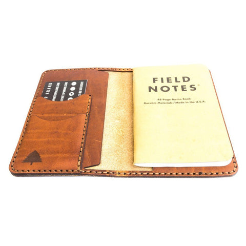 leather field notes journal