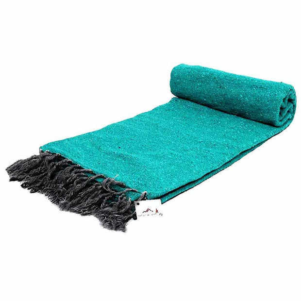 Sea green meditation blanket thick