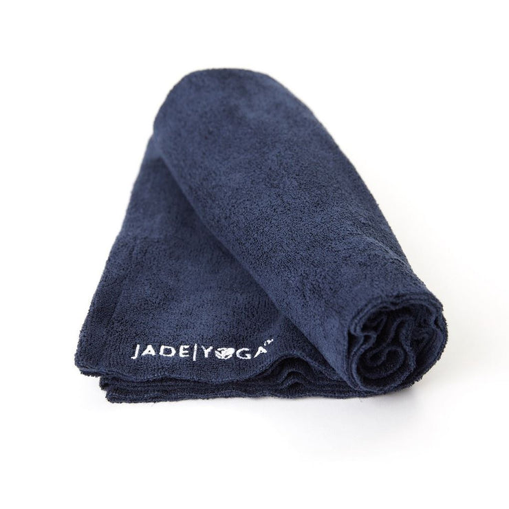 Jade Yoga Mat Towel - Midnight Blue Towels JadeYoga