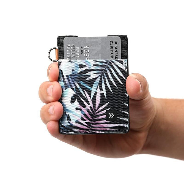 Vertical Slim Card Holder - Tropical