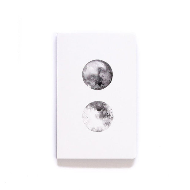 softcover travel notebook moon