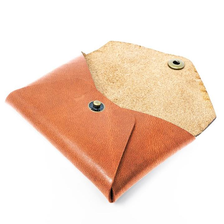 leather envelope wallet tan