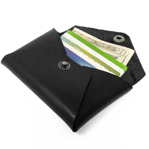 Horween Leather Coin Wallet - Black