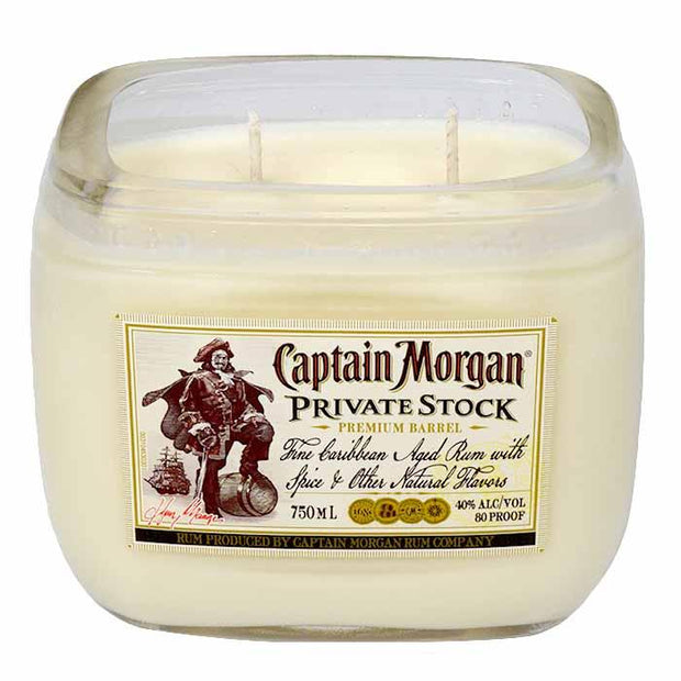 liquor bottle candle captain morgan