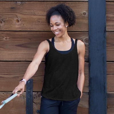 Jessica Yoga Tank - Black Tanks Graced by Grit