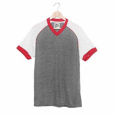 V-Neck Baseball Tee T-Shirts Camp Collection M