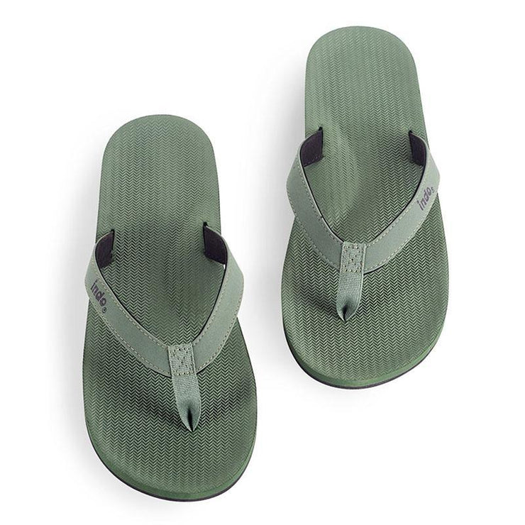Eco-Friendly Men's Flip Flops - Green Sandals Indosole