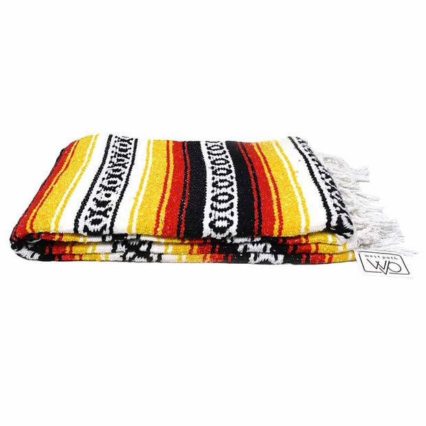 Serape Blanket Black Yellow