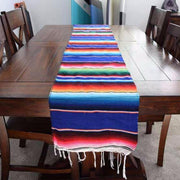 Mexican Blanket Table Runner Blue