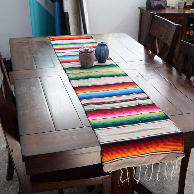 Mexican Table Runner - Tan Table Runners West Path Default Title