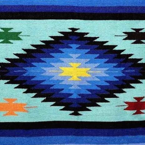 XL Diamond Mexican Blanket Mint