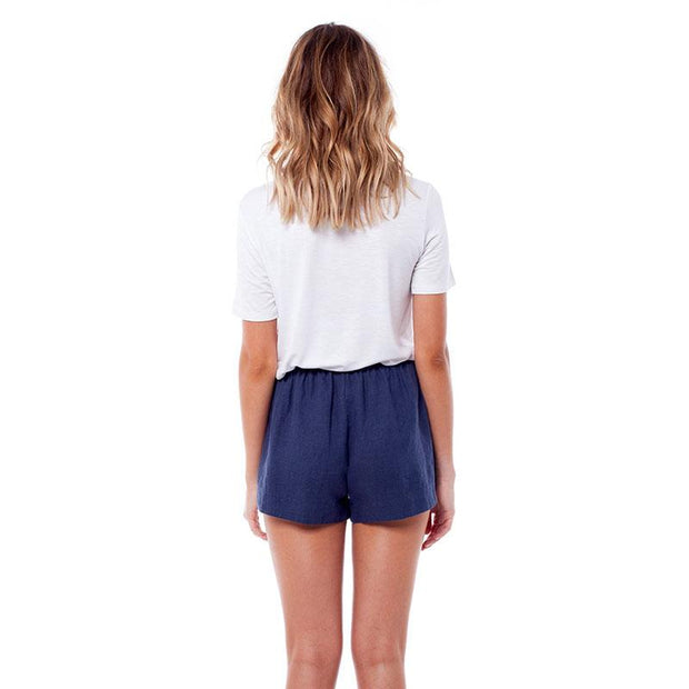 rhythm linen navy shorts