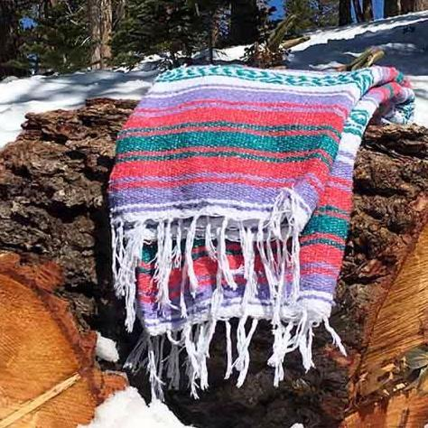 outdoor Mexican Blanket for Hiking or Camping
