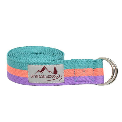 8' Cotton Stretching Strap - Multi Yoga Accessories West Path Default Title