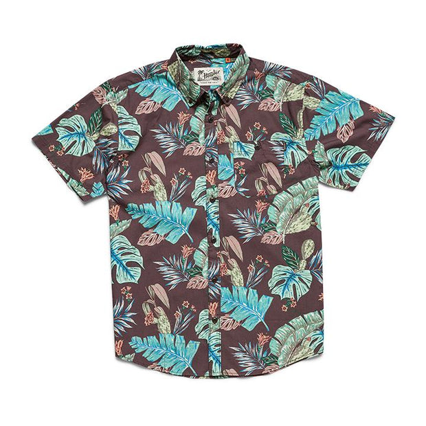 Mens button up Beach Surf Hawaii shirt