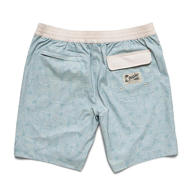 mens blue print trunks