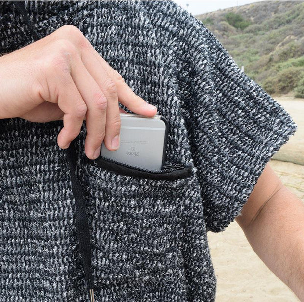 Surf Changing Poncho - Charcoal Black