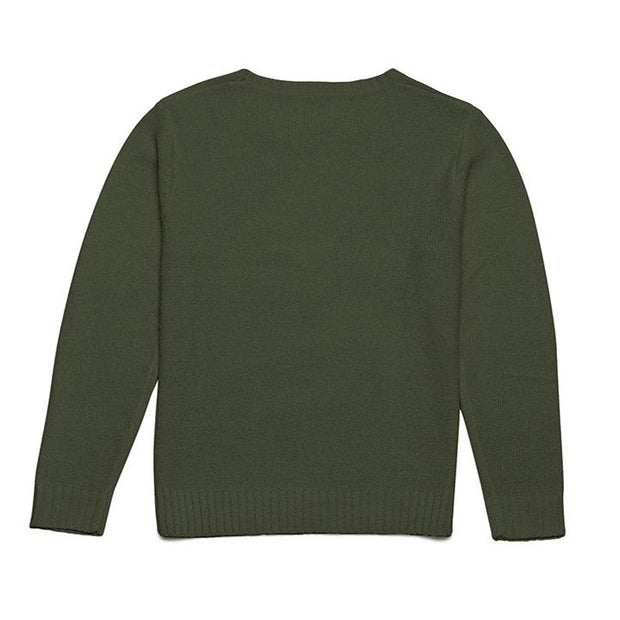 rhythm olive mens sweater knit pullover back