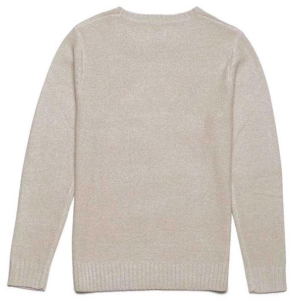 Classic Knit Sweater - Natural White